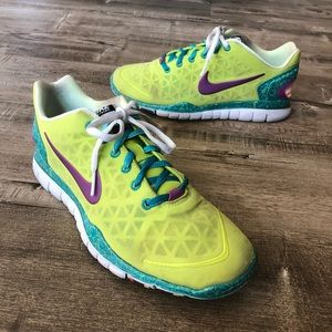 Nike Free Fit 2 Optic Yellow Green Training Shoes
